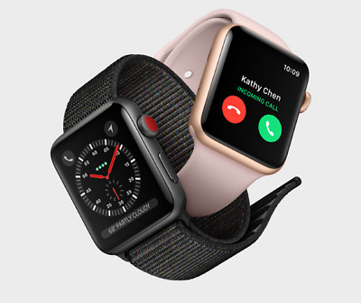 $ CDN404.30 • Buy Apple Watch Series 3 42MM GPS+ Cellular 4G Aluminum Stainless Sport Band-Special