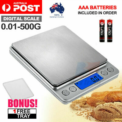 AU15.97 • Buy 0.01G-500G Electronic Mini Digital Pocket Jewelry Gold Weighing Kitchen Scales