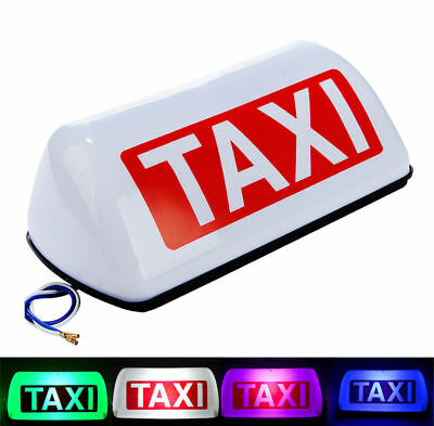$19.99 • Buy Taxi Cab Sign Roof Top Topper Car Super Bright Light Lamp 11  White 5 LED 12V