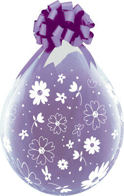Qualatex 18  Clear Stuffing Balloons Daisies & Dots For Stuffing Machines • 13.99£