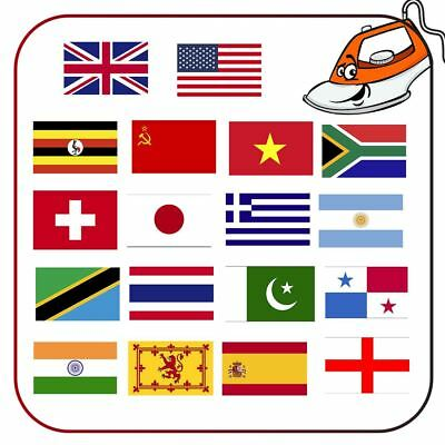 Belgium National Country Flags Iron On Transfer Choose Your Country Canada UAE • 0.99£