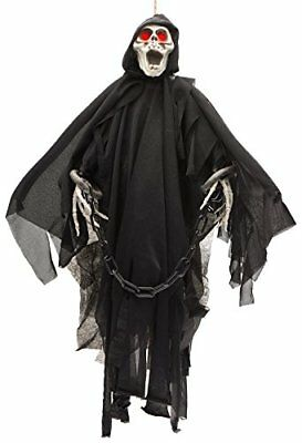 $16.77 • Buy Animated Skeleton Ghost Halloween Decoration With Glowing Red Eyes, 25-Inch