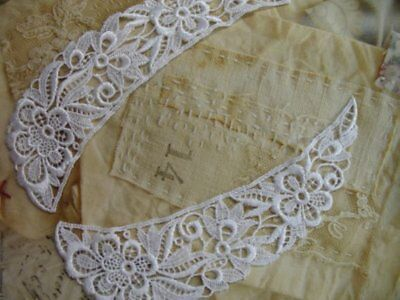 24 Pieces Of 9  Long White Floral Venise Lace Collars In 12 Sets • 20.87£