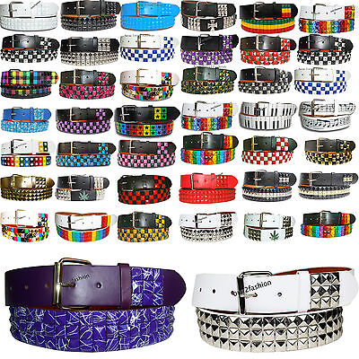 New Pyramid Studded Mens Womens Belt With Removable Buckle Small To Pluse Size  • 7.99£