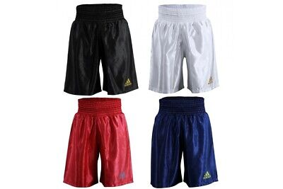 Adidas Boxing Shorts Satin Amateur Pro Adults Mens Black White Red Blue Gold • 22.99£
