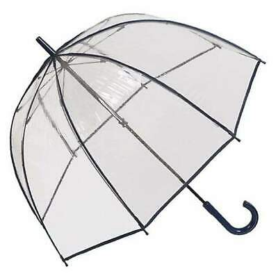 AU37.95 • Buy Clifton Clear Dome PVC Birdcage Piped Edges Navy Umbrella