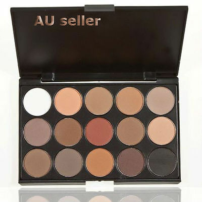 AU8.11 • Buy Nice Pro 15 Colors Warm Nude Matte Shimmer Eyeshadow Palette Makeup Cosmetic LH