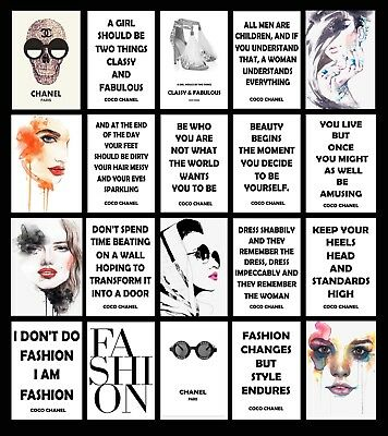 £9.99 • Buy Coco Chanel Quote Fashion Art Minimalist Inspirational Poster ART BUY1 GET2 FREE
