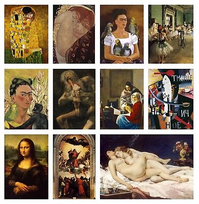£6.99 • Buy Famous Classic Paintings Poster Art Print Cafe Wall Deco Posters Buy1 Get 2 Free