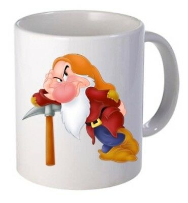 Grumpy Snow White And The Seven Dwarfs Personalised  Mug • 7.90£