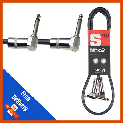 $ CDN8.64 • Buy Stagg GUITAR FX PEDAL PATCH CABLE LEAD 60cm With Angled Jacks SPC060L DL