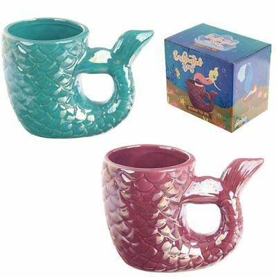 Mermaid Princess Tail Handle Coffee Mug Cup Pink And Blue New In Gift Box • 7.95£