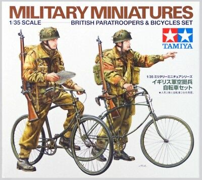 Tamiya 1/35 Scale WW2 British Paratroopers With Bikes • 9.99£