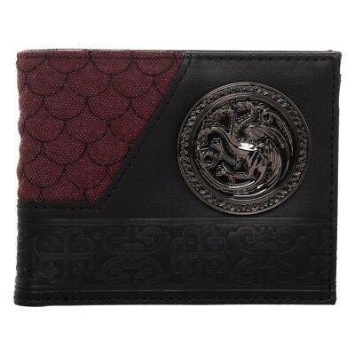$29.95 • Buy House Targaryen - OFFICIAL Game Of Thrones Bifold Wallet By Bioworld Dragons