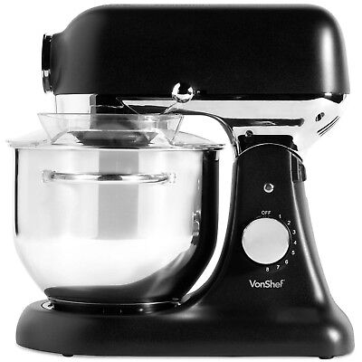 View Details VonShef 1200W Electric Food Stand Mixer 8 Speed Setting Beater Dough Hook Whisk • 109.99£