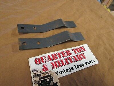 $20 • Buy Rear Seat Spring Clip Pair NEW US Made Fits Willys Jeep MB GPW M38 M38A1
