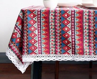 AU46.31 • Buy Home Dining Table Cloth Bohemian Pattern Cotton And Linen Woven Decoration Cover