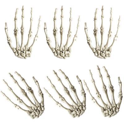 $18.68 • Buy Plastic Skeleton Hands Haunted House For Halloween Decoration 3 Pairs/Lot Supply