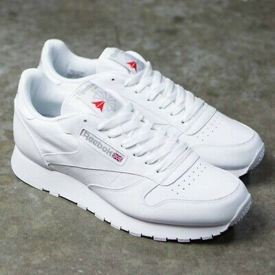 b156ef16ac5 Reebok Classic Leather 9771 White Grey Red Mens Shoes Fashion Sneakers Sizes  • 57.95