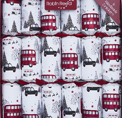 Christmas Crackers Celebrations & Occasions Robin Reed H8 Christmas Holiday 6pc 12in Themed Crackers Victorian Santa 61720