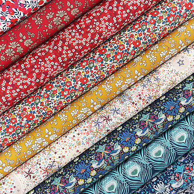 Liberty Strawberry Thief Tana Lawn Fabric Pack / Quilting Floral Christmas Betsy • 4.25£