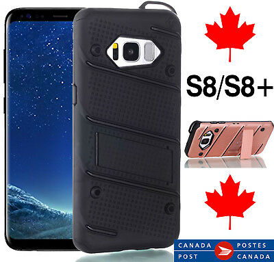 $ CDN3.99 • Buy For Samsung S8 / Plus Shockproof Kickstand Heavy Duty Cover Case - Fast Shipping