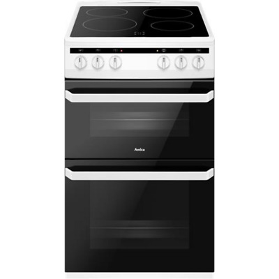 £279 • Buy Amica AFC5100WH Free Standing A/A Electric Cooker With Ceramic Hob 50cm White
