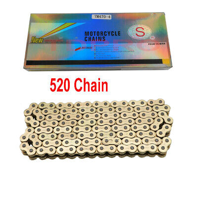 AU69.99 • Buy Gold 520 Chain 120 Links O Ring 520V For Motorcycle Pit Dirt Bike CRF KLX RM