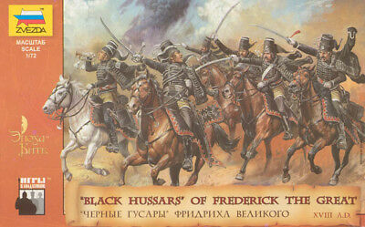 Toy Soldiers 1/72 Black Hussars Of Frederick The Great- ZvezdA 8079 • 10.29£