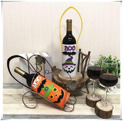 $7.16 • Buy Pumpkin Ghost Halloween Wine Bottle Cover Clothes Holder Home Table Decorations