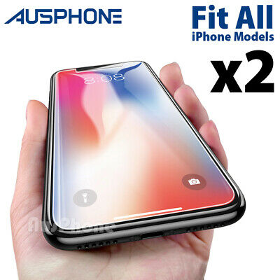 AU3.49 • Buy 2x Scratch Resist Tempered Glass Screen Protector Apple IPhone 8 7 6s 6 Plus 5s