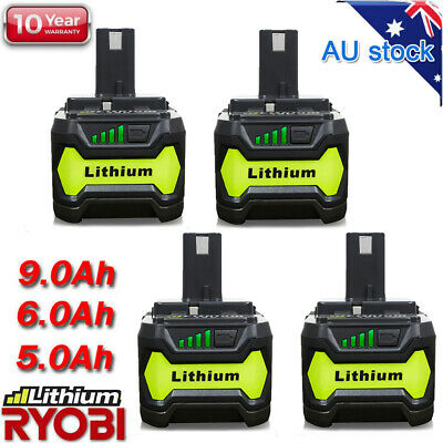 AU43.89 • Buy 18V 6.0AH P108 Lithium Battery For Ryobi One+ RB18L50 P104 P780 RB18L40 / P117