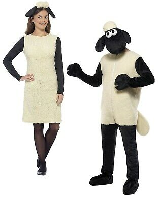 £54.99 • Buy Adults Shaun The Sheep Costume Mens Wallace And Gromit Fancy Dress Ladies Outfit