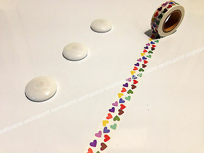 AU5.80 • Buy Japanese Washi Tape 15mmx10m Rainbow Hearts Love Romance #W936