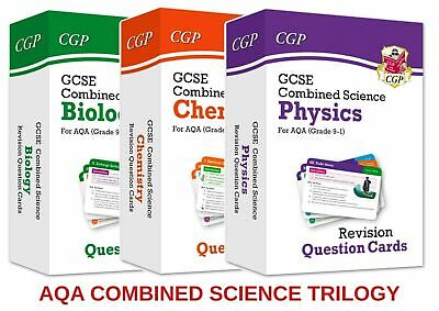 £18.95 • Buy Gcse Aqa Combined Science Revision Flashcards All 3 Question Cards Pack