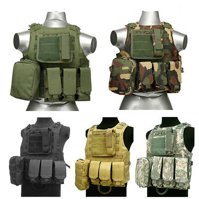 $24.85 • Buy Tactical Military Molle Waistcoat Swat Police Combat Assault Plate Carrier Vest