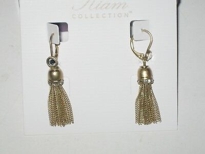 $ CDN21.33 • Buy NEW Lia Sophia KIAM CURTAIN CALL EARRINGS - LOTS OF SPARKLE -RV $68 MATTE GOLD