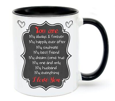 AU14.95 • Buy Valentine's Day Husband Mug Personalised Name  Cup  Birthday Present Gift
