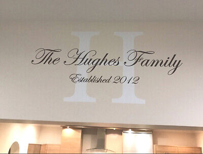 £29.99 • Buy Personalised Family Name Wall Sticker   Family Name Wall Decal Monogram