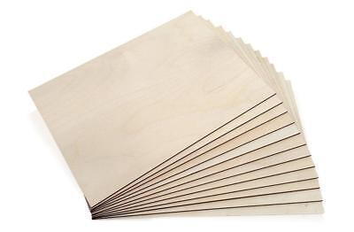£16.49 • Buy A4 Birch Plywood Sheets Laser Safe Crafts Models Pyrography 210/300 [VARY]