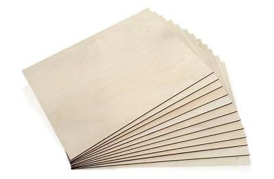 £9.99 • Buy 5x A4 Birch Plywood Sheets Laser Safe Crafts Models Pyrography 210/300mm [3mm]