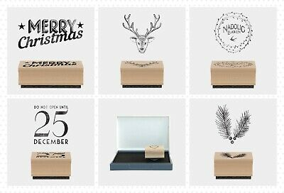 East Of India Ink Pad Christmas Rubber Stamps Merry Xmas Craft Nadolig Llawen • 3.29£