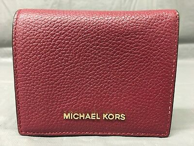 2889cfe6349597 Used, Michael Kors Av-1705 Saffiano Leather Flap Card Holder Wallet, Red-