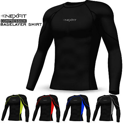 £9.99 • Buy Men Compression Tops Shirt Base Layer Activewear Sports Under Skin Tight Suit