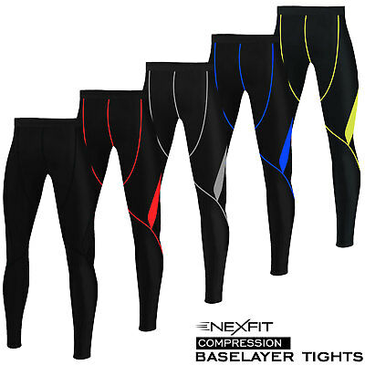 Mens Compression Tights Base Layer Running Yoga Body Armour Gym Pant Trousers • 12.99£