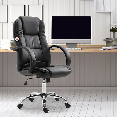 £94.99 • Buy Vinsetto Executive High Back Office Chair Ergonomic 360° Swivel PU Leather Seat