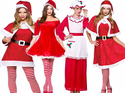 £13.99 • Buy Miss Mrs Santa Claus Deluxe Adult Womens Ladies Christmas Fancy Dress Outfit