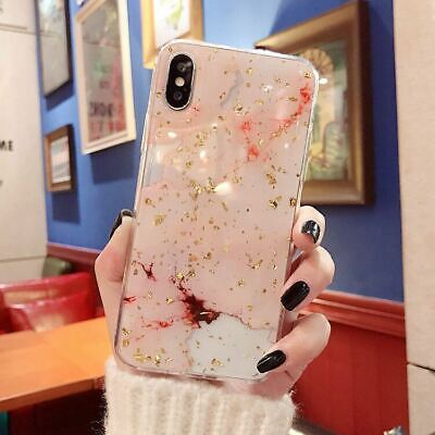 AU6.85 • Buy IPhone XS Max XR 8 7 6 Plus Case Shockproof Tough Marble Soft Cover For Apple