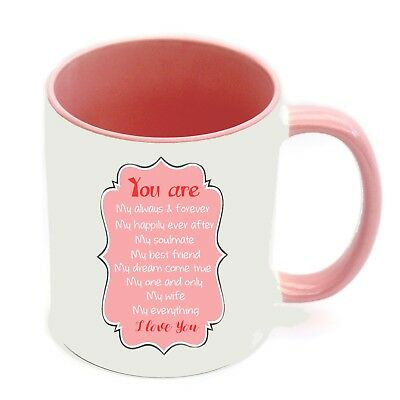 AU14.95 • Buy  Valentine's Day Wife Personalised Name Mug Romantic Cup Birthday Present Gift