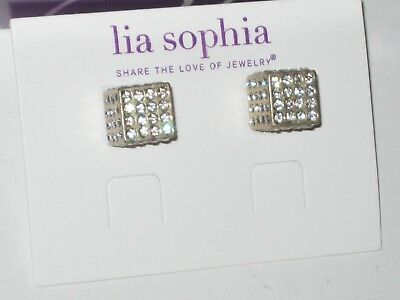 $ CDN16.31 • Buy NEW Lia Sophia ROLL THE DICE EARRINGS - LOTS OF SPARKLE -RV $48 MATTE GOLD